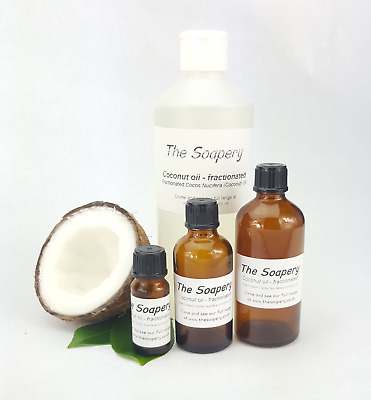 Fractionated Coconut Oil - 100% Pure and Natural - 10ml to 1 litre