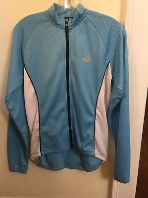 NEW WOMEN S Descente Classic Long Sleeve Jersey Size Large Blue ... 55e1c7cef