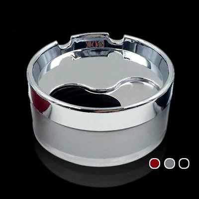 Stainless steel ashtray with lid windproof rotating smoke fashion gift stainless