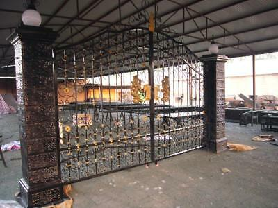 Beautiful Victorian Style Cast Iron Estate Driveway Gates With Posts - Dg90