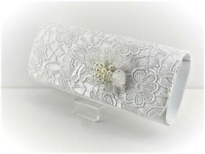 Ivory Lace Vintage Clutch Bag Perfect Bridal Co
