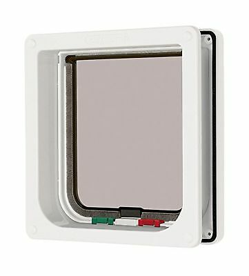 Cat Mate 4 Way Locking Cat Flap with Door Liner to 50mm (2), White (235W)