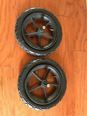 "Pair 2 Bugaboo Cameleon Frog Gecko Rear Wheel Replacement 12"" Stroller PARTS"