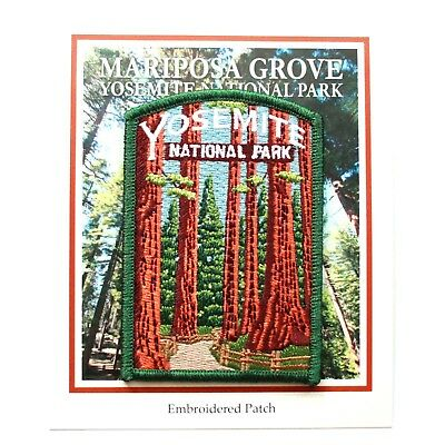 Official Yosemite National Park Souvenir Patch Mariposa Grove Sequoia California