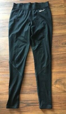 Womens Nike Pro Hyperwarm Dri Fit Black Workout Athletic Leggings - Size Small