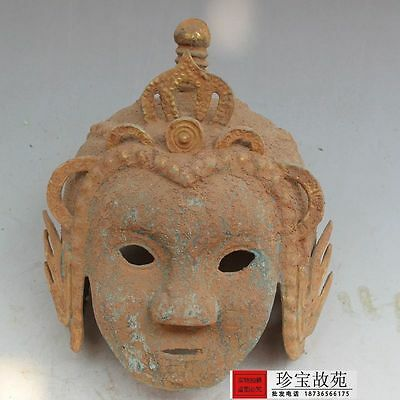 Collectable old China's Qing dynasty bronze armor war helmet