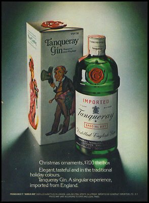 1974 Vintage Christmas ad for Tangueray Gin -35
