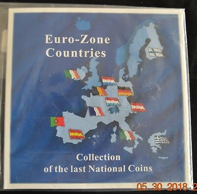 Euro-Zone Countries Collection Of Last National Coins - 12 Coins Total