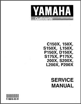 Yamaha 150 175 200 2-Stroke Outboard Motor Service Repair Manual CD