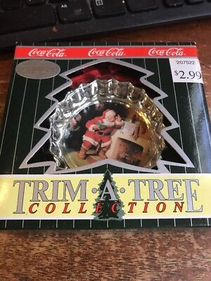 Coca-Cola Trim A Tree Collection Santa at Fireplace with box 35-61F