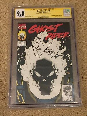 Ghost Rider 15 CGC 9.8 White Pages- Signed & Sketched Mark Texeira