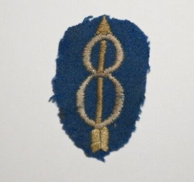 8th Infantry Division On Wool Felt Patch Pre WWII US Army P7373