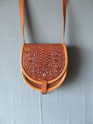 Gutsul bag.  Handmade. Genuine leather. Small bag. Unique Wizard work Ukrainian