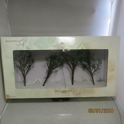 """Dept 56 """"Spring-Summer Trees"""" Seasons Bay Collection 56.53382"""