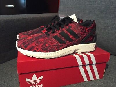 san francisco ac5b3 e306e adidas ZX Flux City Pack Moscow Red Mens Size 9 M21775 Limited Edition!
