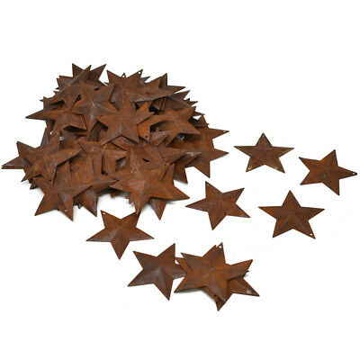 Mini Metal Rustic Stars, Rust, 2-1/4-Inch, 100-Piece