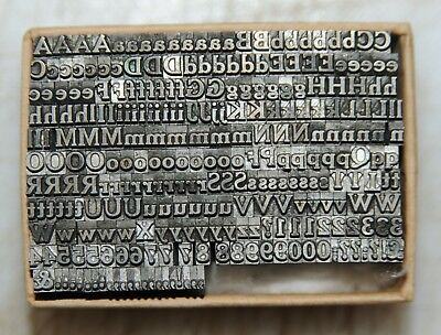 10pt Roman Part Font Metal  Letterpress Type   #  Adana user  #