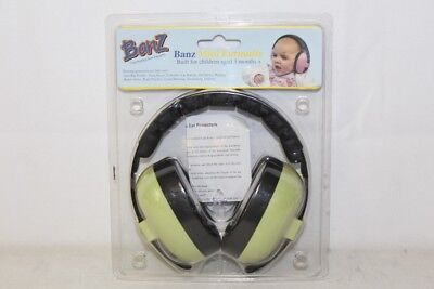 Baby Banz Mini Earmuffs For Ages 3 Months+ Leaf Green