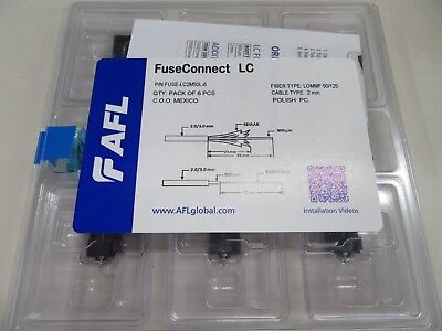 Afl Fuse-Lc2Smu-6 Fuse Connect Lc Sm 2Mm 6 Pack - Factory Sealed New