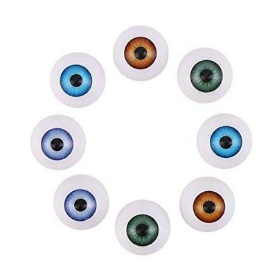 DECORA 20mm Half Round Acrylic Doll Bear Craft Plastic Eyes Eyeball For Doll and