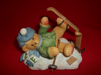 """Cherished Teddies  Figurine - Spencer """"i'm Head Over Skis For You""""  1997"""