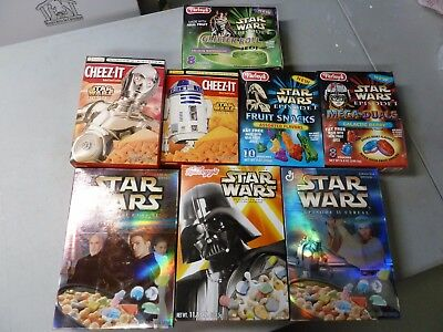 Star Wars Cereal, Cheeze-It, Fruit Snack Lot