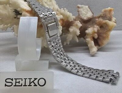 SEIKO RICE GRAIN POLISHED STAINLESS STEEL WATCH STRAP 16mm AUTHENTIC NOS
