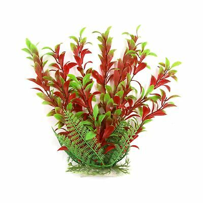 Sourcingmap Aqua Landscape Fish Tank Decoration Plastic Plant, 23 cm, Red/Green
