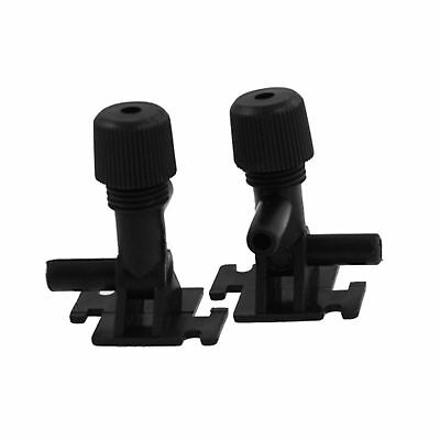 Sourcingmap Plastic Fish Tank 2 Way Air Control Valves, 2 Pieces, Black