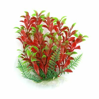 sourcingmap Aqua Landscape Fish Tank Decoration Plastic Plant, 16 cm, Green/Red