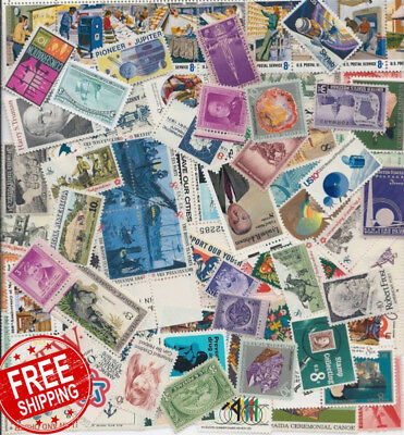 Stamp Collectors! Nice Large Lot Of 100 Vintage Mint Us Postage Stamps - All Are