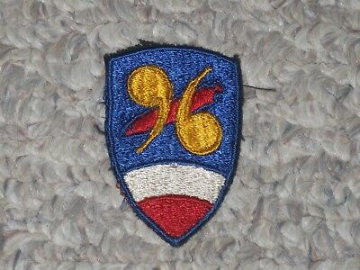 WW2 US Army 96th Chemical Mortar Battalion Patch WWII Cut Edge