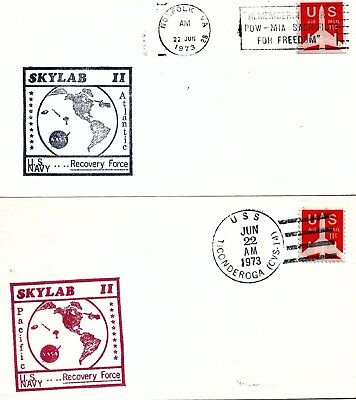 UNITED STATES - 1973 Skylab II US Navy Recovery Force Covers x 2