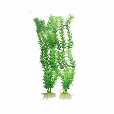 Sourcingmap Plastic Fish Tank Aquascaping Decoration Plant, Green