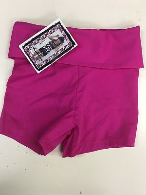 Lexi Luu Girl's L/ Pink Fold Over Or High Waisted Shorts