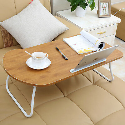"""27"""" Laptop Table Desk Lap Stand Sofa Bed Tray Computer Notebook with Tablet Slot"""