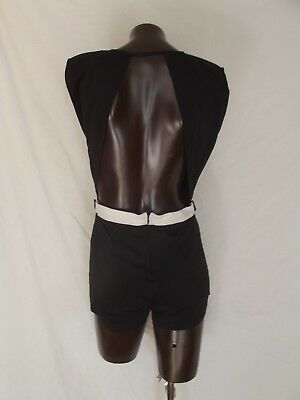 *hommage* Los Angeles Black Backless Shorts Suit         Sz M