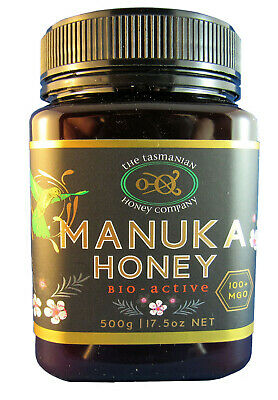 Tasmanian Manuka Honey,  Natural Activity, MGO 100+, 500gms, free shipping