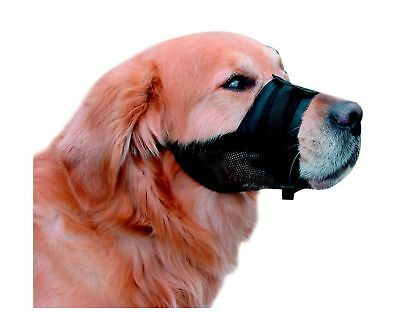 Nobby Adjustable Nylon Muzzle for Dog, Size 4 - XL - 23 - 31cm, Black