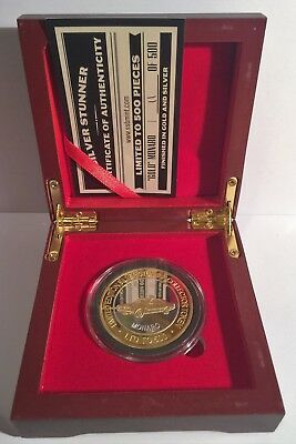 "New Holden ""GOLD"" Monaro Silver Stunner Coin/Token C.O.A. LTD 500 D/Box"