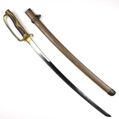 Japanese Army Officer Gunto Sword Samurai Hand Forged Blade Family 1761 Old