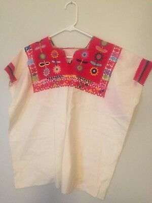 Vintage Hand-Woven & Embroidered  Guatemalan Huipil