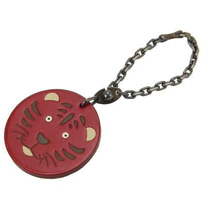 Auth HERMES Animal Charm Tiger 2010 Limited Leather Red Accessories 90006758