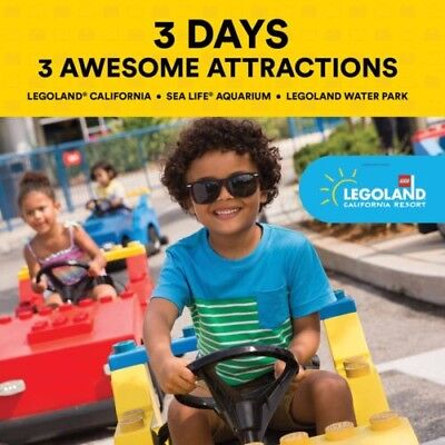 3 Day LEGOLAND California Hopper (Legoland / Sea Life / Water Park) - $309 value