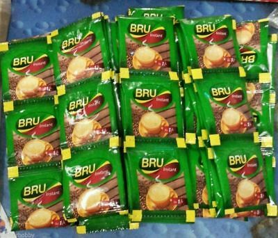 BRU COFFEE 100 pouches Instant coffee powder Makes 100 cups Free shipping