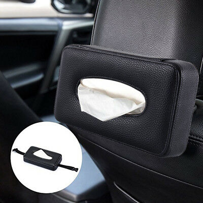 Luxury Car Back Seat Headrest Leather Tissue Paper Holder Car Tissue Box AU