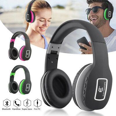 Bluetooth 4.1 Wireless Stereo Bass Foldable Headset  Headphone with AUX Cable
