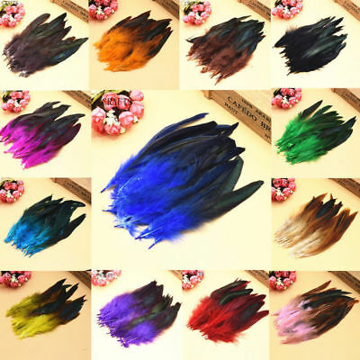 Wholesale 20/50/100pcs Beautiful Rooster Tail Feather 6-8inch/15-20cm
