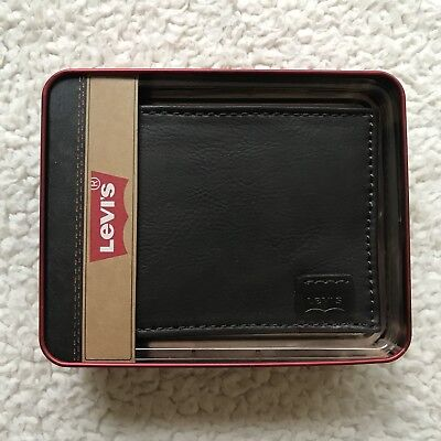 ab4366664 LEVI'S LEATHER WALLET Slimfold style 31LV1344 Brown NEW!! - $14.99 ...