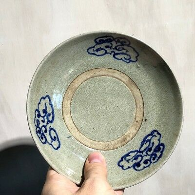 Chinese 'Kitchen Ming' dish, blue cloud decoration, 17th/18th century